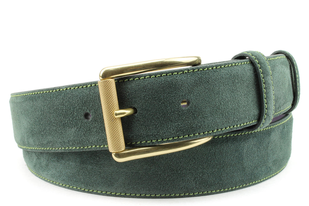 Forest Green Suede Roller Belt