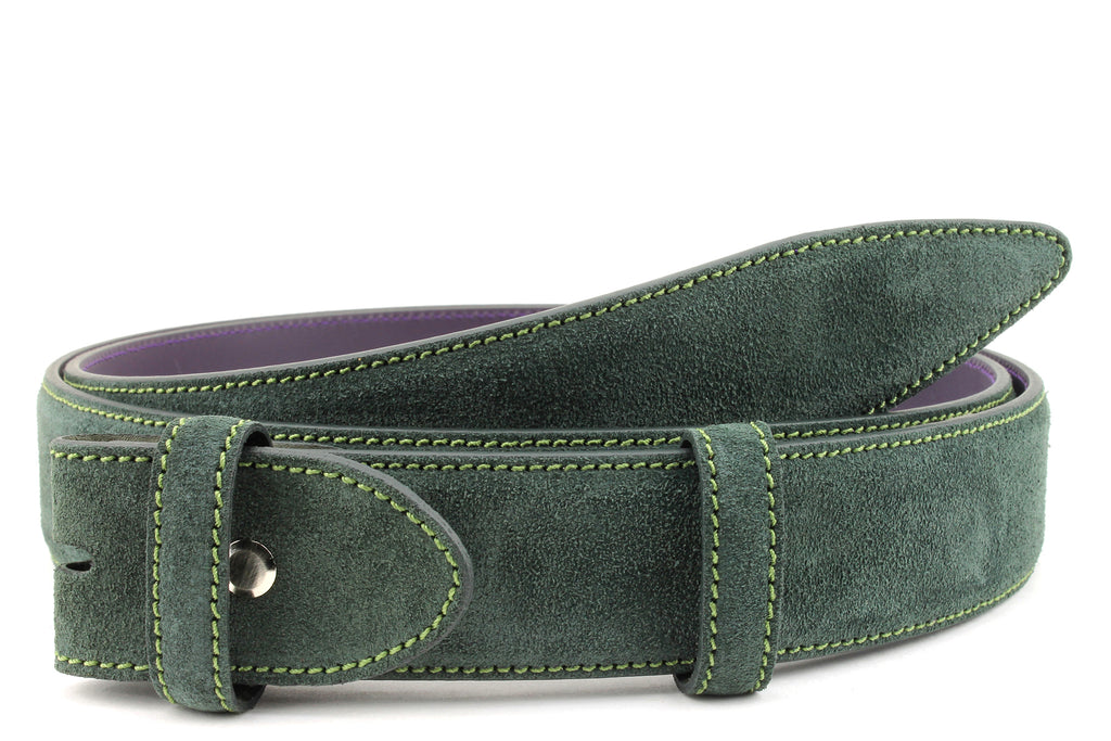 Forest Green Suede Belt Strap