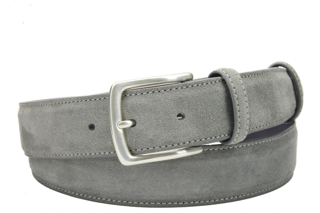 Grey Suede Belt