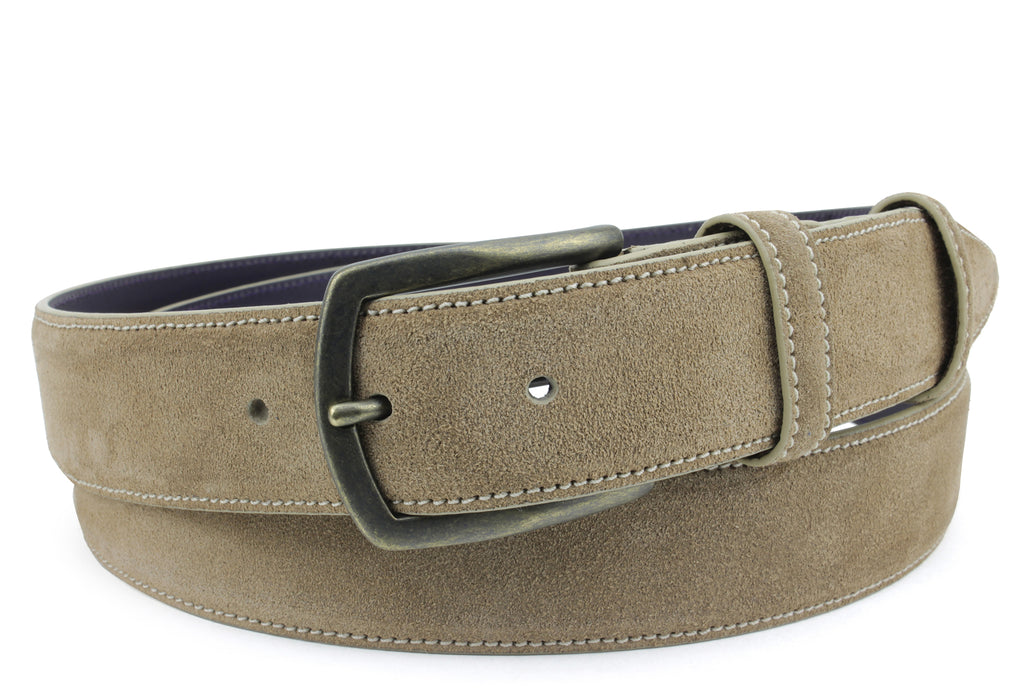 Classic Antelope Toned Suede Belt
