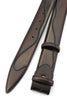 Belafonte Hand Burnished Wine Tone Belt Strap