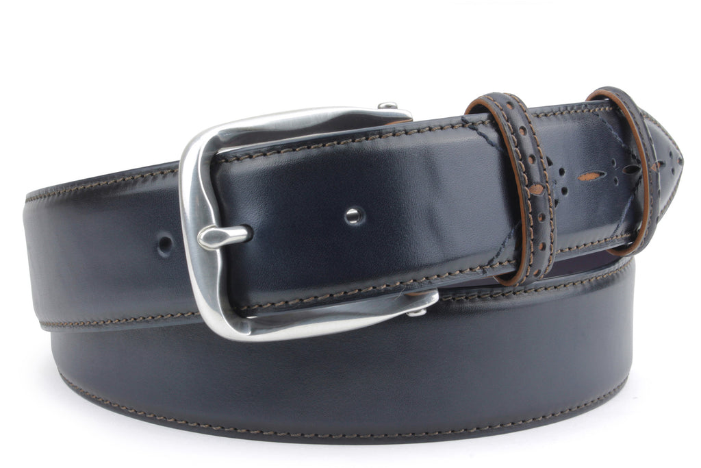 Sinatra Royal Blue/Tan mix Perforated Belt