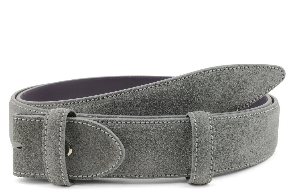 Mid Grey Suede Belt Strap