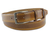 Pacino Golden Ochre Men's Hand Burnished Belt