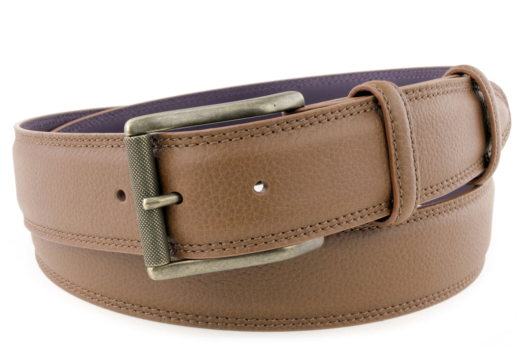 Cuero Bogart Welt Twin Stitch Belt