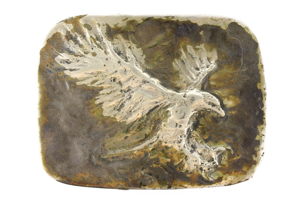 German silver landing eagle buckle