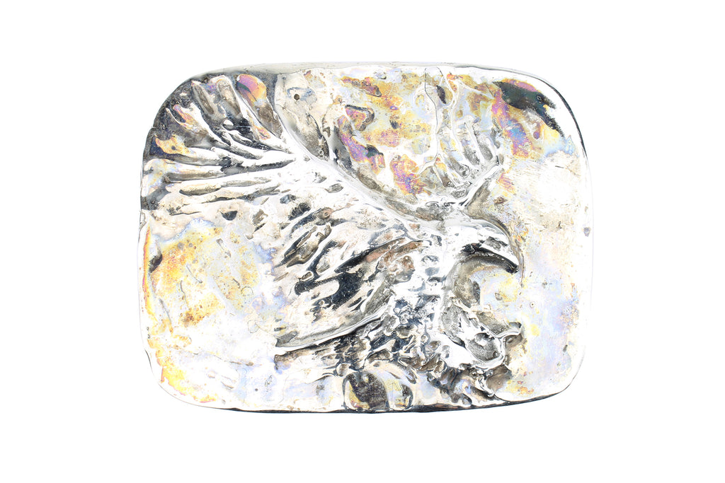 Silver Plated landing Eagle Buckle 40mm