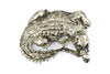Bronze Curled Crocodile Buckle 40mm