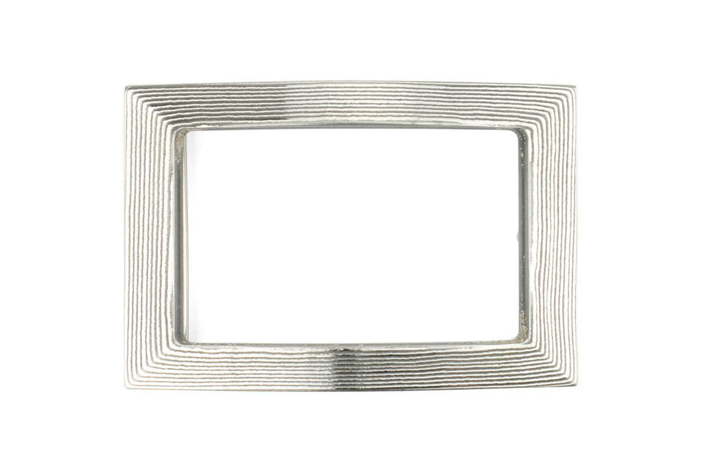 Damascus Steel Open Face Rectangle Buckle 40mm