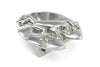 Frog' Solid Pewter Buckle 40mm