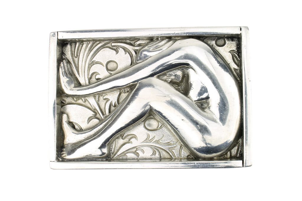Lady in a Box' Solid Pewter Buckle 40mm