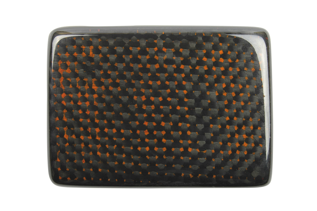 Black/Amber Carbon Fibre Plate Style Buckle