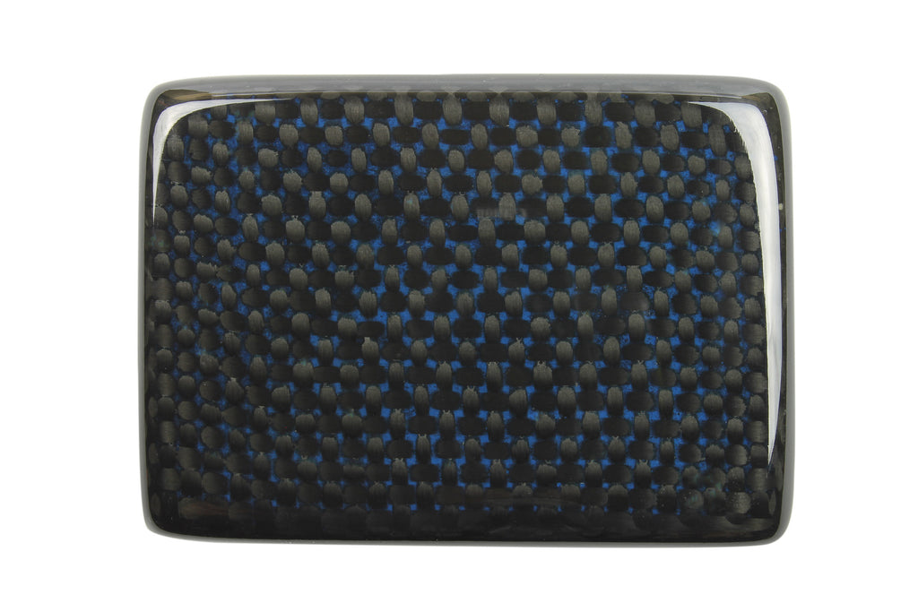 Black/Electric Blue Carbon Fibre Plate Style Buckle
