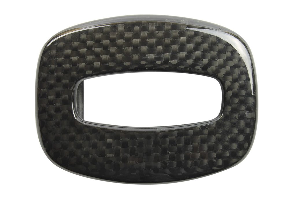 Black Hollowed Rectangle Carbon Fibre Buckle