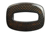 Black/Amber Hollowed Rectangle Carbon Fibre Buckle