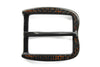 Black/Amber Twisted Edge Prong Style Carbon Fibre Buckle
