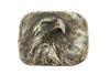 Patinated Bronze Front Facing Eagle Head Buckle 40mm