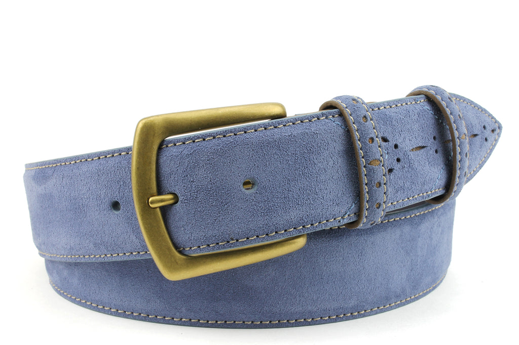 Sinatra Denim Tan Mix Suede Belt