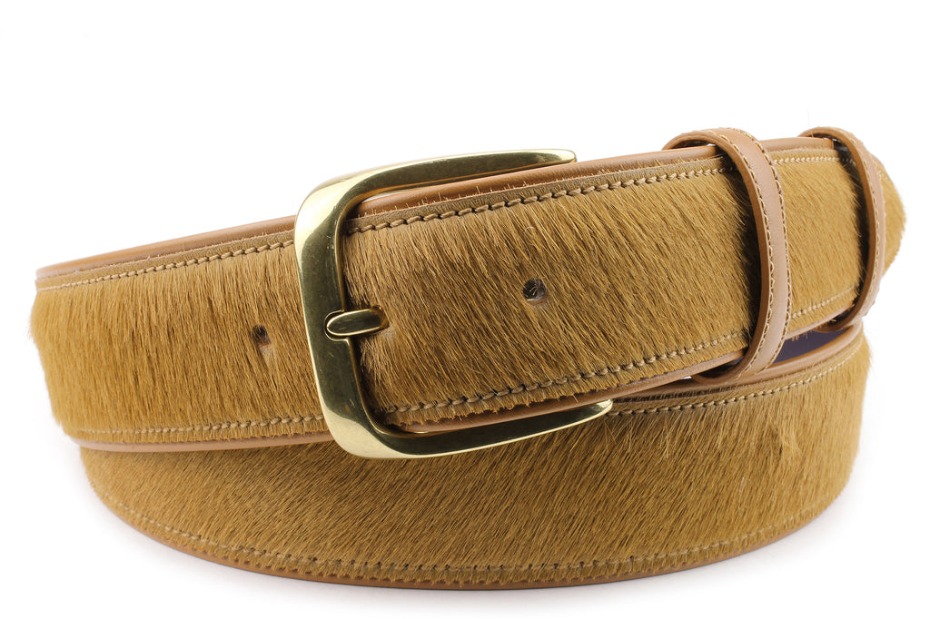 Light Tan Pony hair Belt