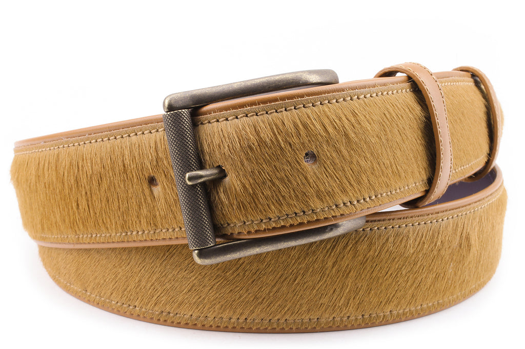 Light Tan Pony Hair Roller Belt