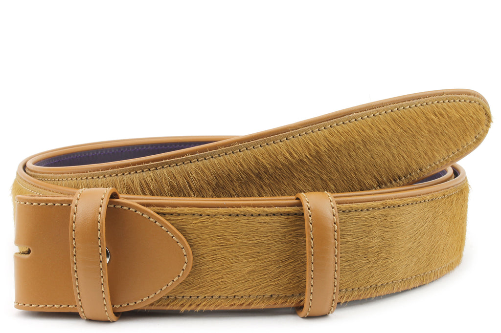 Light Tan Pony Hair Belt Strap