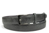 Anthracite Grey Narrow Mock Python Effect Belt