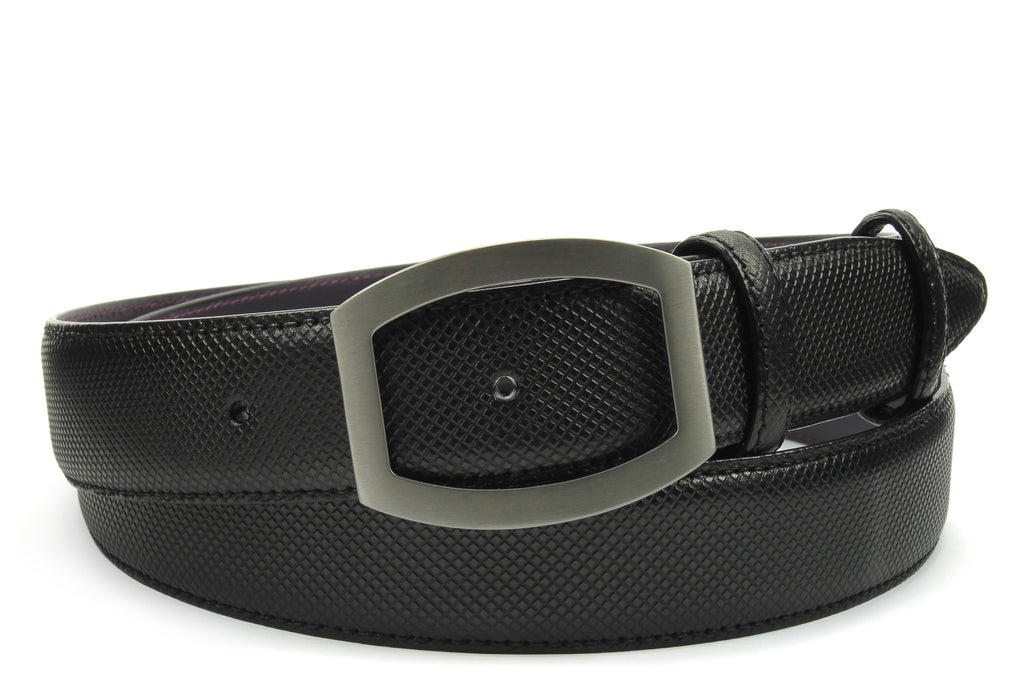 Black Bogart Burnished Dadino Open Face Belt