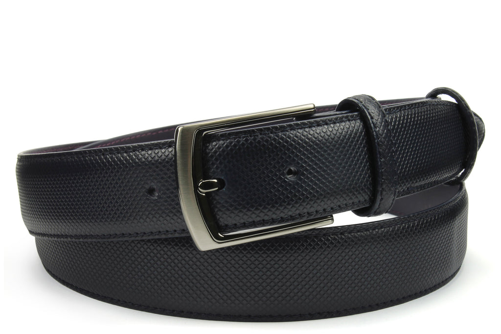 Bogart Navy Hand Burnished Dadino Belt