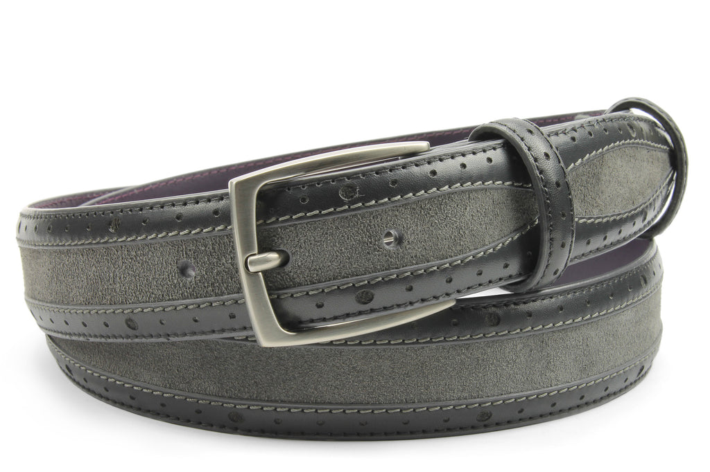 Mclaren' Grey Tone Suede/Leather Belt
