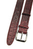 Burgundy Mock Caiman Effect Gunmetal Belt