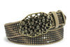 Clyde Ice Grey Vintage Studded Crystal Bubble Belt
