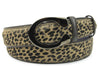 Leopard Print Pony Hair C Belt