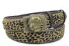 Leopard Print Pony Hair Lion Belt