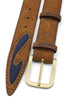 Silverado Tan Denim Insert Satin Belt