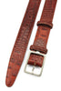 Cinnamon Tone Mock Croc Narrow Belt
