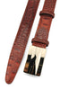Cinnamon Tone Mock Croc Narrow Plate Belt