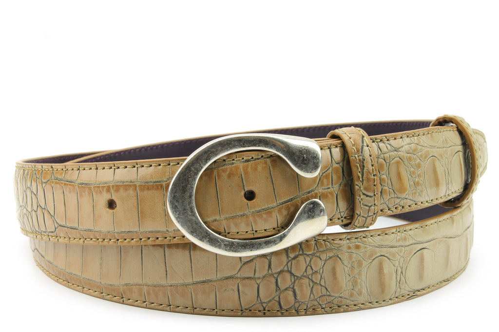 Magic Mushroom Mock Croc Narrow C Belt
