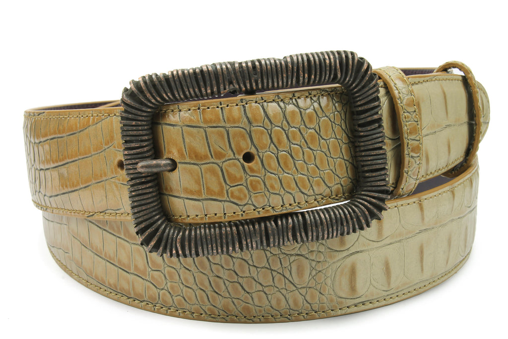 Magic Mushroom Mock Croc Wire Belt