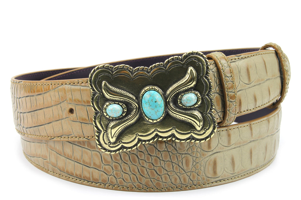 Magic Mushroom Mock Croc Western Belt