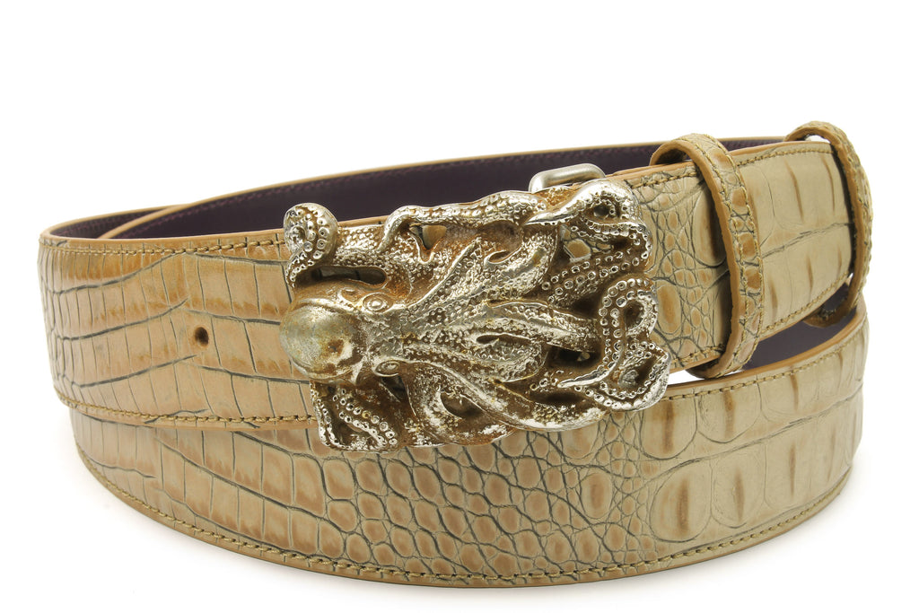 Magic Mushroom Mock Croc Octopus Belt