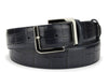 Deep Blue Viewfinder Mock Croc Tail Belt