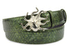 Forest Green Metallic Dimple Texture Octopus Belt