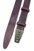 Deep Purple Narrow Supple Vintage Pyramid Belt