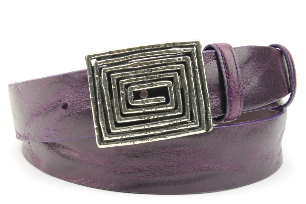Deep Purple Supple Vintage Maze Belt