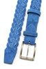 Cornflower Blue Suede Handweave Belt