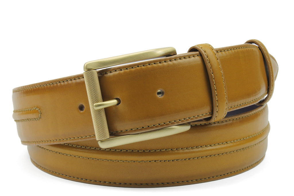 Redford Hand Burnished Champagne Tone Belt