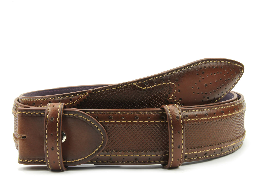Conker Tone Hand Burnished Hockney Belt Strap