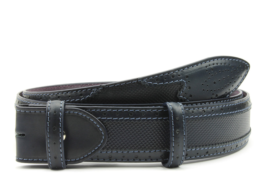 Royal Blue Hand Burnished Hockney Belt Strap