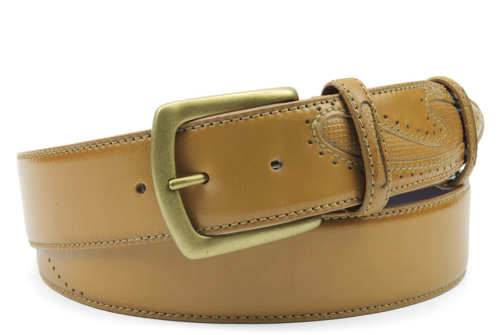 Fawn tone Silverado Sr hand Burnished Belt