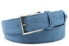 Sinatra Denim & Pale Blue Mix Suede Belt